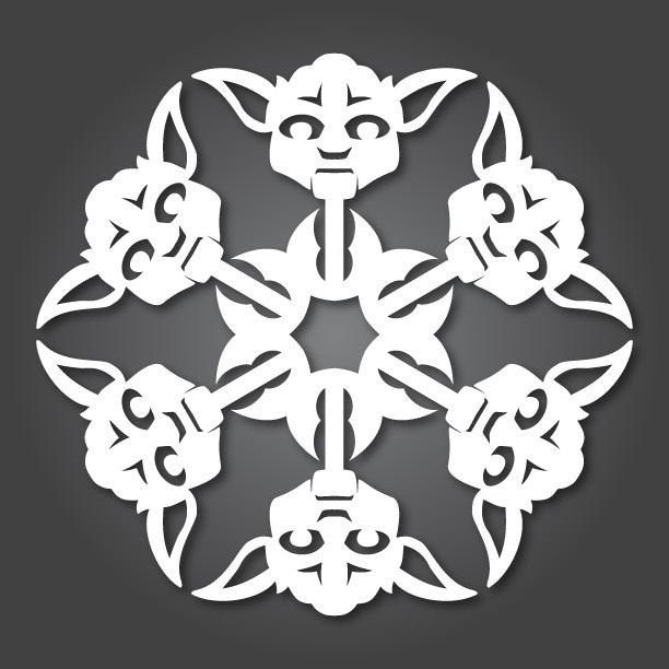 Nerd Style meets Holiday Decor: check out these 24 free paper snowflake templates, Star Wars style! Glorious. May the force be with you this winter season.
