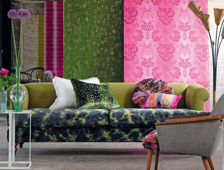 Designers Guild Polka Sofa Pattern And Colour Mix Pattern Pattern Mix Pinterest Designers