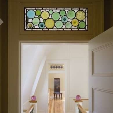 Transom Windows, admitted natural light to front hallways and interior rooms before the advent of electricity, and circulated air even when doors were closed for privacy.