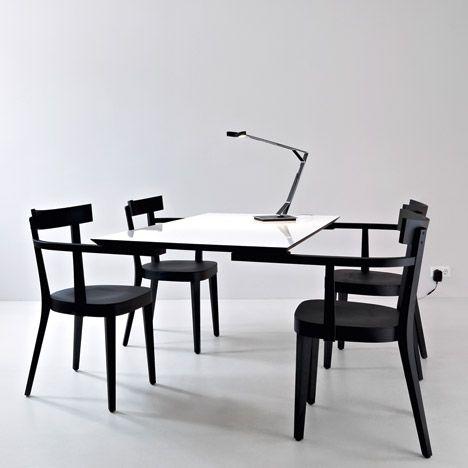 25 beste idee n over zwevend bureau op pinterest bureaus lange bureau en wandmontage bureau. Black Bedroom Furniture Sets. Home Design Ideas