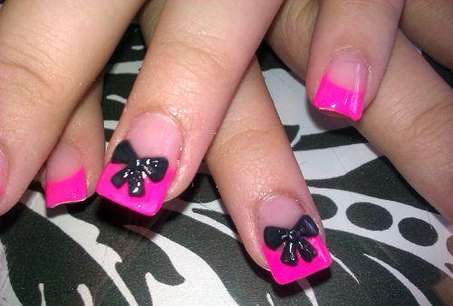Bow nails. @Kimberly Peterson Chavira