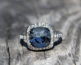 Available @ TrendTrunk.com Size 7 - AQUAMARINE SWAROVSKI SAPPHIRE CRYSTAL ELEMENT RING WITH RHODIUM PLATING Jewellery. By Size 7 - AQUAMARINE SWAROVSKI SAPPHIRE CRYSTAL ELEMENT RING WITH RHODIUM PLATING. Only $88.00!