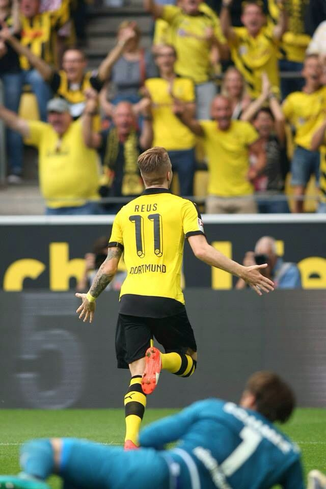 The goal scoring was opened by no other than Borussia Dortmund's very own son, himself, Marco Reus.