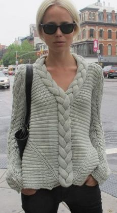 This knit is too chunky, but I like the idea. Knits can't be itchy. So cotton, cashmere or merino wool only.