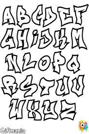 Resultado de imagen para letras graffiti abecedario cursiva