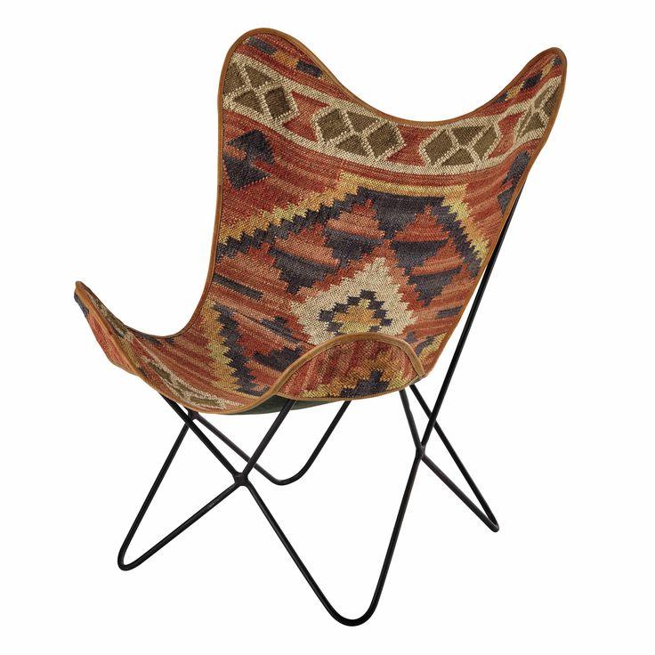 Sessel aus Kelim-Gewebe, mehrfarbig Kilim