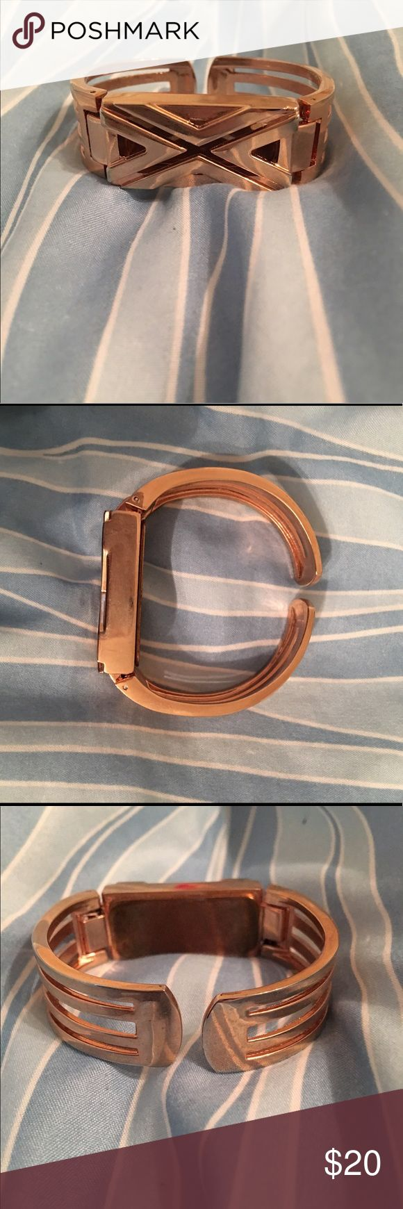 Fitbit band Gold Fitbit band. Comes with piece to help take the back off. Jewelry Bracelets
