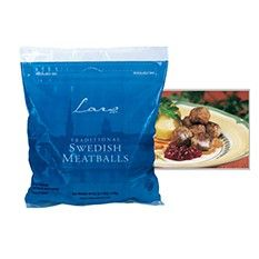 """These delicious all-natural Swedish meatballs are frozen and fully cooked. Just heat and serve! Meatballs are a widespread concept in Sweden, and a """"must"""" on every Swedish Smorgasbord.  Many people of Scandinavian descent say Lar's meatballs taste just like """"Mom's meatballs"""". There are many ways to make Swedish meatballs and many different favorite recipes. We love them with lingonberries!"""