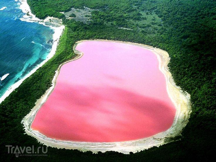 Розовое озеро Хильер (Австралия)