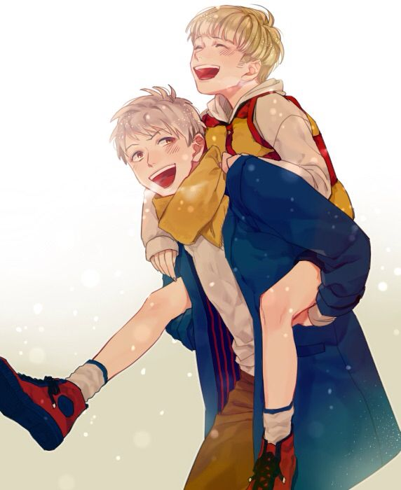 So, I found this picture while cleaning up in Gilbert's room. He kept this. *smiles* I love my brother's~