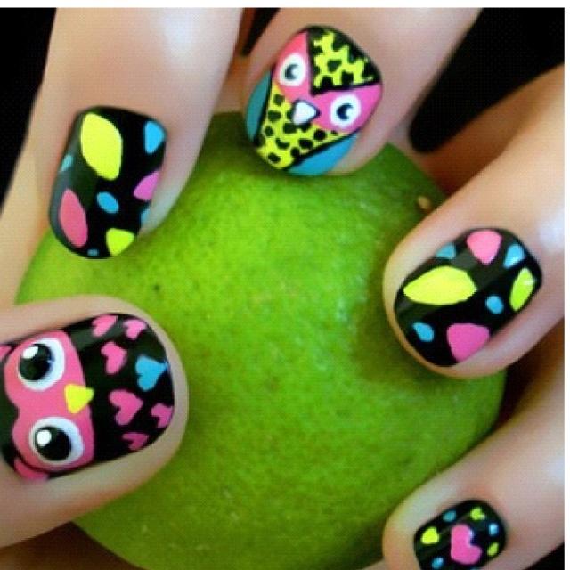 42 best Owl Nails - Uñas decoradas con Búhos images on Pinterest ...