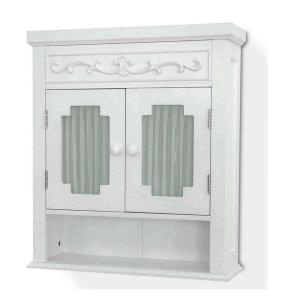 $88.80 - Elegant Home Drapery 21 in. Wall Cabinet in White, Home Depot - Master