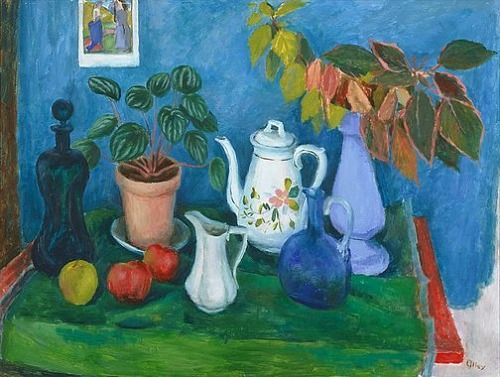 Still Life with Leaves by Margaret Olley