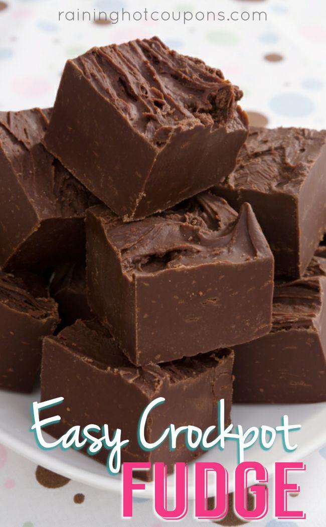 3 Ingredient #Crockpot #Fudge recipe