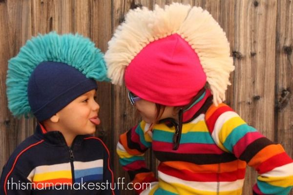 homemade mohawk beanie cap tutorial 3~perfect for crazy hat day