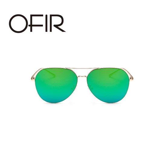 OFIR 2017 Brand Designer Oversized Pilot Oval Sunglasses Women Men Sun Glass Aviation Metal Frame Mirror Driving Female Glasses