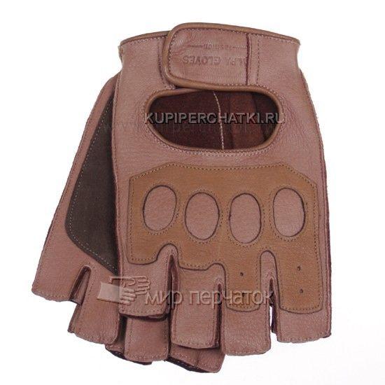 МИР ПЕРЧАТОК - Перчатки без пальцев мужские из кожи оленя