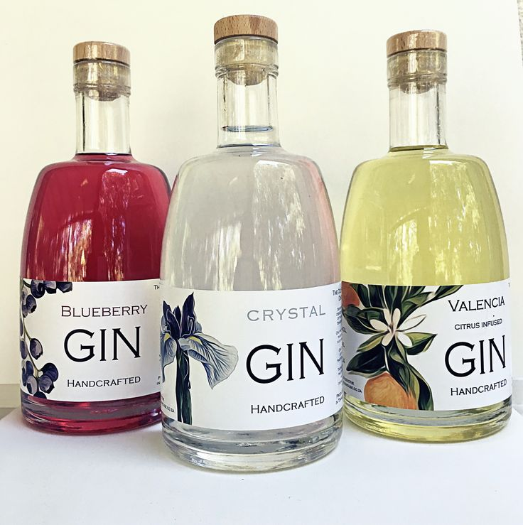 The Old Packhouse Distillery Handcrafted Gin Blueberry Gin Valencia Gin Crystal Gin