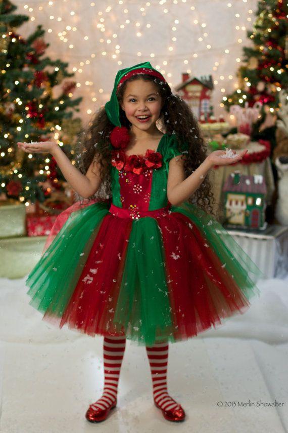 Vestido tutú Navidad elfo por EllaDynae en Etsy