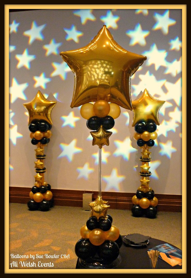 The Very Best Balloon Blog: Star Struck Air-Filled Balloon Decor for an Awards Ceremony