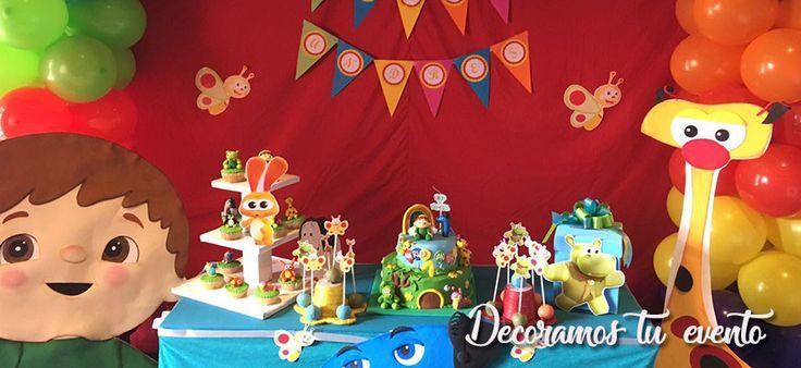 Decoración fiesta baby tv - Elfeston