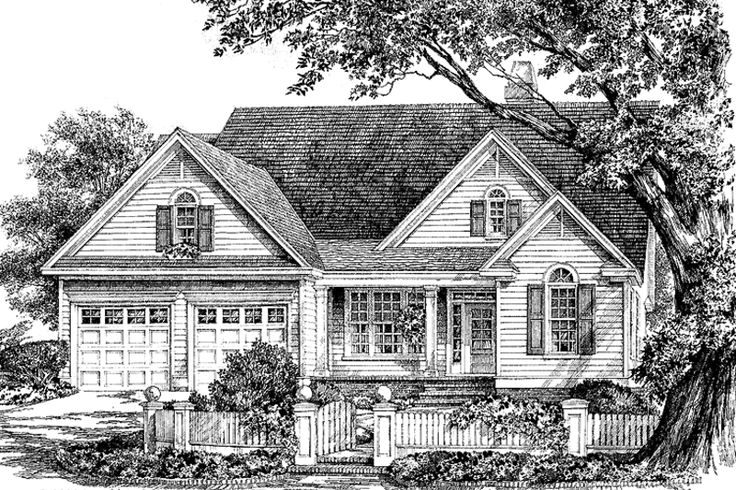 Ranch Exterior - Front Elevation Plan #929-665 - Houseplans.com