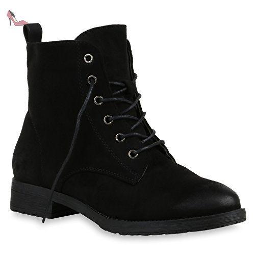 Stiefelparadies Bottines Classiques Femme - Noir - Schwarz Glatt oZa53arT2r,
