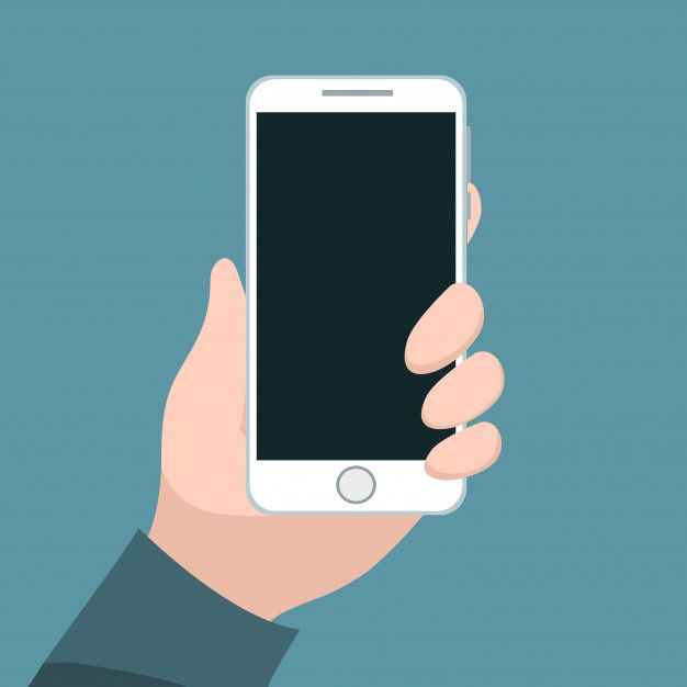 Person Holding Cell Phone With His Hand Hand Logo Phone How To Draw Hands