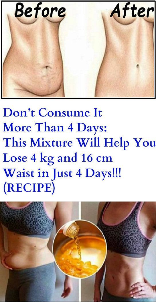 Don't Consume It More Than 4 Days: This Mixture Will Help You Lose 4 kg and 16 cm Waist in Just 4 Days! – (RECIPE)