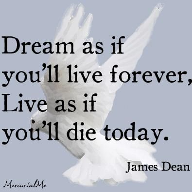 Amazing quote from the one and only James Dean
