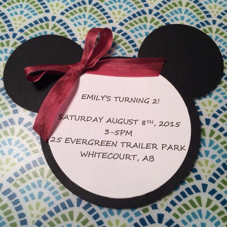 Minnie Mouse birthday invitations #minniemouse #birthday