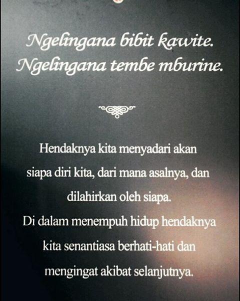 Once upon a time in Jogja  #javanese #quotes #javascript #javaneselanguage #jogja #todaysquote #traditionall #bahasa #jawa #dijogjakarta #jalanjalan #indonesian #heritage #culture #katabijak