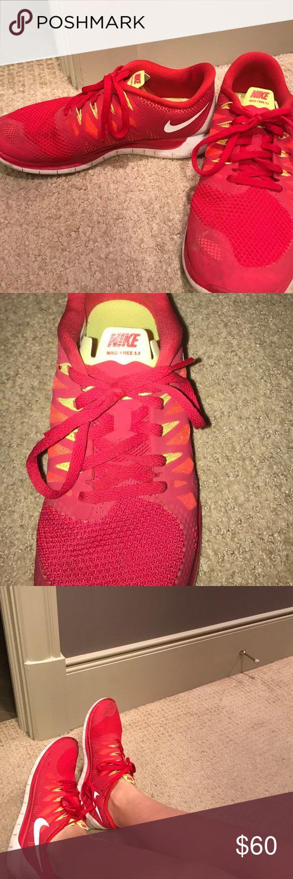 nike free run 5.0 pink yellow