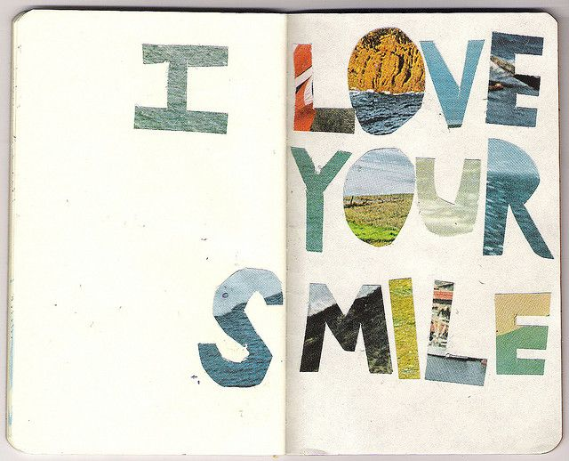 I love your smile #moleskine art