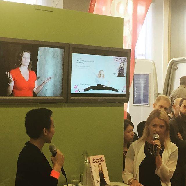 Jackie intervjuar Clara Henry om sin bok Jag har mens, hurså! #kvinnligatalare #bokmässan #bokmässan2015 #inspiration