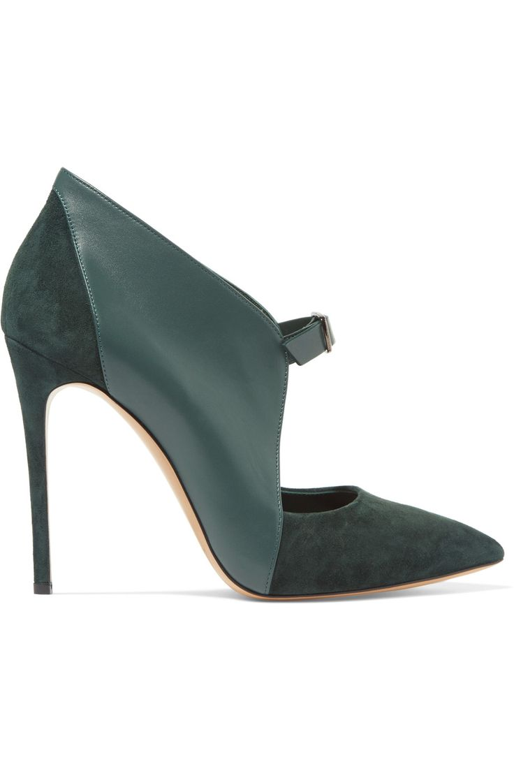 CASADEI Leather and suede pumps