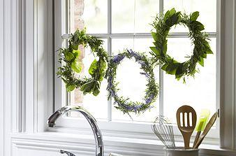 Functional Fresh Herb Wreath