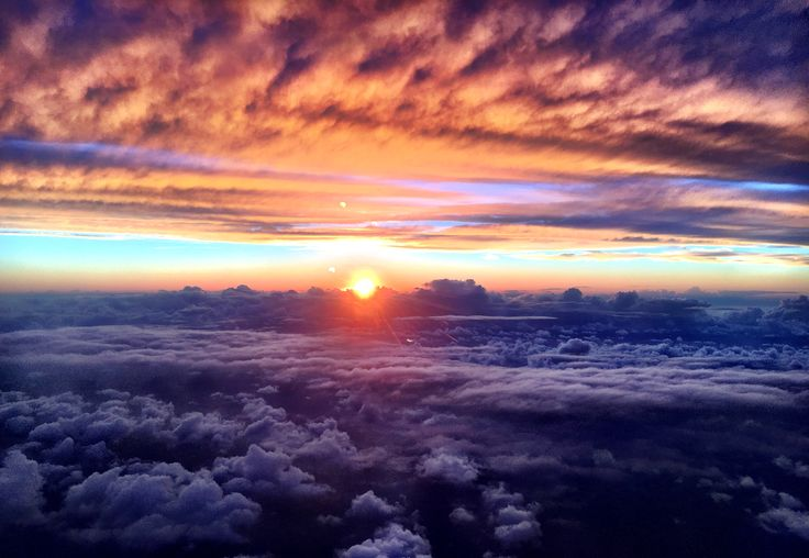 Between clouds you find beauty and peace