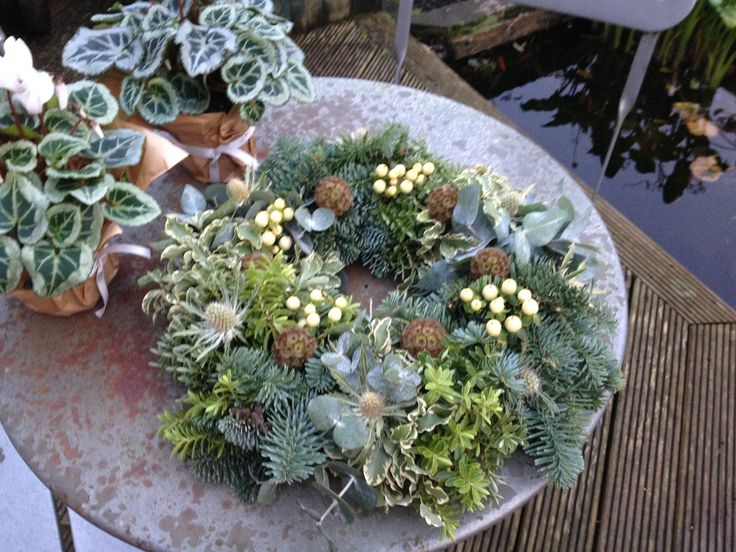A wreath to be placed on the resting place of a dearly departed for Christmas.  Very special.