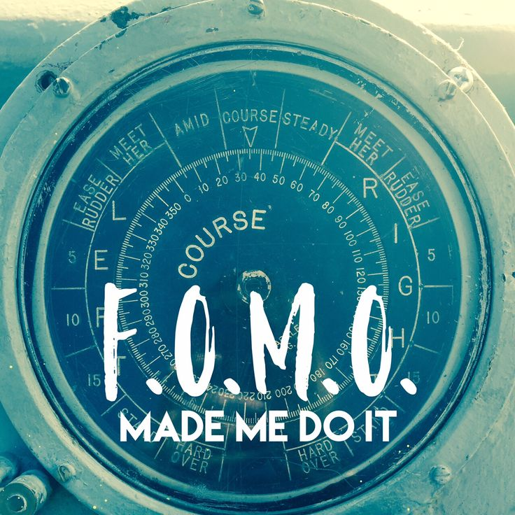 """FOMO, which is an acronym for """"Fear Of Missing Out"""", is becoming more and more of an issue in this hyper-connected world. All it takes is thirty seconds on any social media platform, and suddenly w..."""