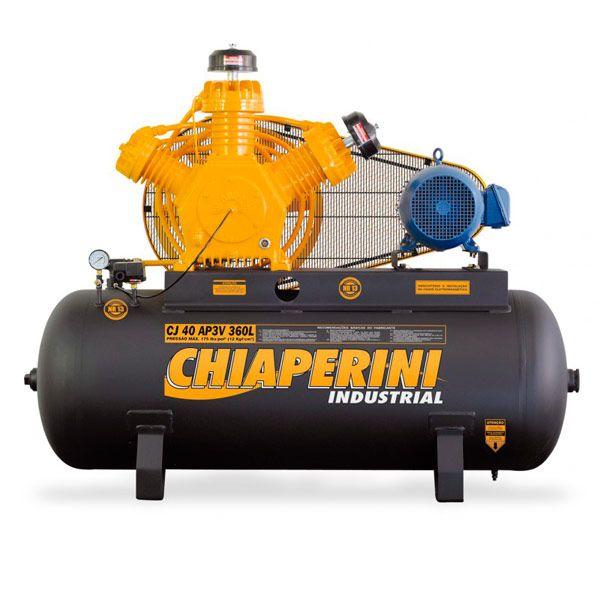 Compressor de Ar Alta Pressão Chiaperini 360 litros | CJ 40 AP3V 360L