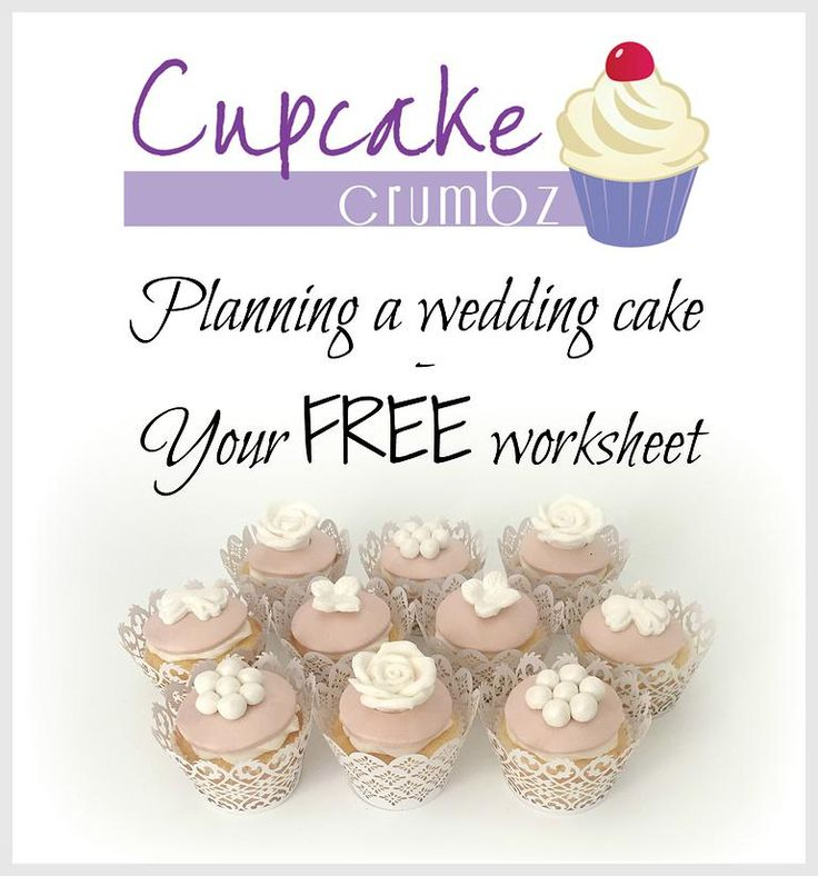 Cupcake Crumbz - Adelaide Hills Cakes and Cupcakes | Planning a wedding cake - Your FREE worksheet
