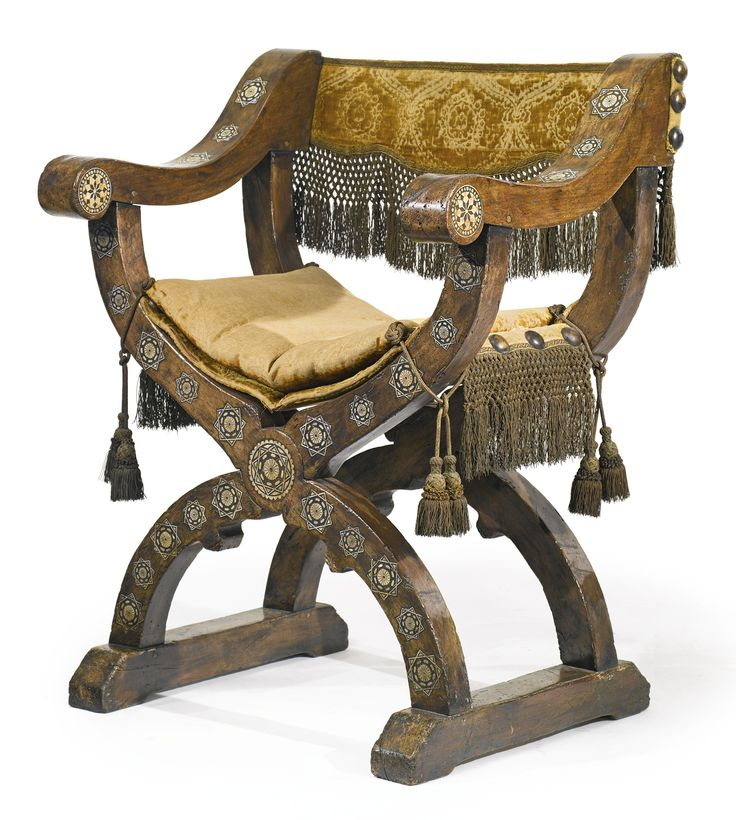A Nasrid or Post-Nasrid ivory-inlaid walnut chair<br>Andalusia, 15th/16th century   Lot   Sotheby's
