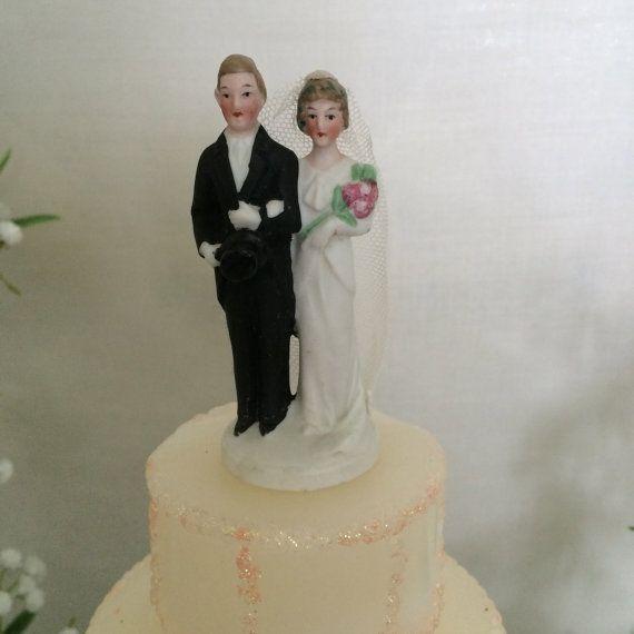 Artist Wedding Cake Toppers : 393 best VINTAGE CAKE TOPPERS images on Pinterest Groom ...