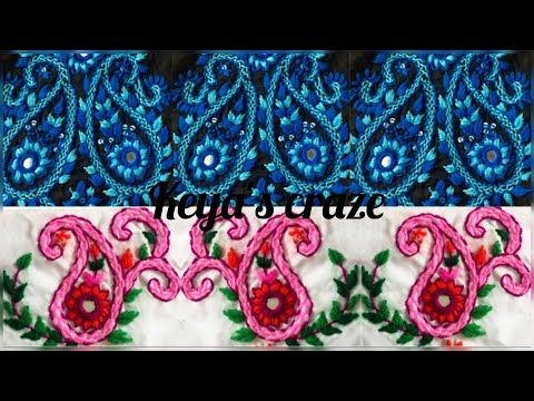 Easy kameez design/neck design hand embroidery - YouTube