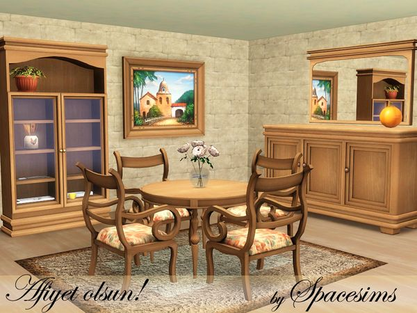 This Traditional Dining Room Made Of Quality Woods Is The Perfect Choice For Sims Who Dont Really Like Modern Style Found In TSR Category 3