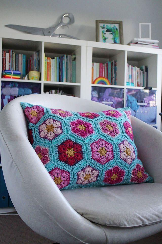 African flower pillow