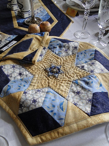 Matza covers don't have to be plain! Decorate or quilt your own this Passover! ~Anna from Janome