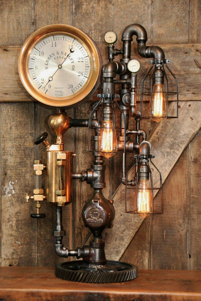 689 best images about steampunk industrial lighting on for Industrial punk design