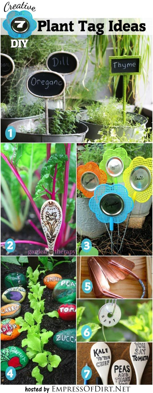 7 Creative DIY Plant Tag and Marker Ideas for your garden | empressofdirt.net